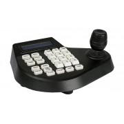 Mini teclado PTZ c/LCD até 128 câmaras negro