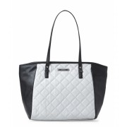Nine West Cobblestone Black Quilted Satchel CobblestoneBlack