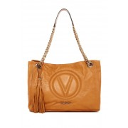 Valentino By Mario Valentino Verra Leather Sauvage Shoulder Bag MIELE