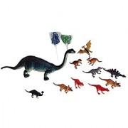 Kids Brachiosaurus Dinosaur Toy Bundle- 4 Items: 10 Inch Brachiosaurus Dinosaur-Makes A Sound 10 Pk Of 4 Inch Dinosaurs