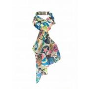 Trendy sjaal met buttonprint