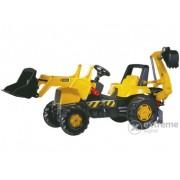 Tractor cu pedale și cupă Rolly Junior JCB cu excavator