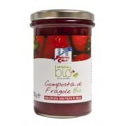 Gem bio de capsune (indulcit cu pulpa de mere) 320g (produs vegan)