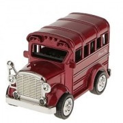 Magideal Pull Back School Bus Model Car Educational Toy Kids Gift-Red