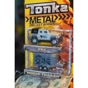 Die Cast Metal 1:50 4x4 SUV with Horse Trailer - Tonka Metal Series