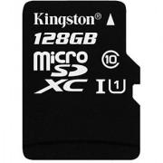 Kingston Digital 128GB microSDXC Class 10 UHS-I 45MB/s Read Card with SD Adapter (SDC10G2/128GB)