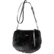 Small Fur Shoulder Bag (black) - mała torebka