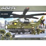 Ausini Army Transport Plane Building Blocks # 22606 452pc Educational Blocks Set Compatible to Lego Parts - Great Gift f