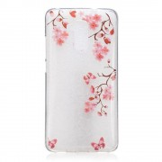 Coque En Tpu Motif Impression Pour Huawei Honor 5c/Gt3/Honor 7 Lite - Papillonset Fleurs