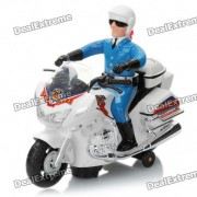City Police Motorcycle Toy with Red/Blue Light & Sound Effect (3 x AA)