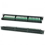 Accesoriu pentru rack: LanKATT Patch Panel cat5e UTP 48 x RJ45 – 1U cu suport de cabluri