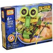 Green Robot Dinosaur Toy 129pcs Set, Battery Operated Toy, Compare to Knex Toys, Build a 3-D Design
