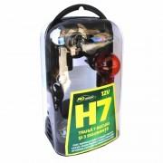 Trusa 7 becuri si 3 sigurante auto Ro Group, H7, 12V
