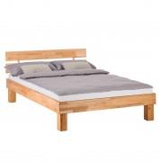 Massief houten bed AresWOOD - 140 x 200cm - Met hoofdeinde - Kernbeukenhout, Ars Natura