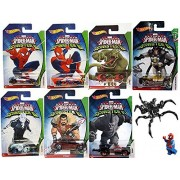 Hot Wheels Marvel Spider-Man Sinister 6 Villain Exclusive set Collectible 7 car bundle & Lego Venom Symbiote Kit Doctor Octopus / Lizard / Electro / Rhino / Kraven Car Bundle