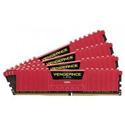 Corsair CMK32GX4M4B3600C16R Vengeance LPX Memoria DDR4 da 32GB, Set 4x8GB, 3600Mhz, XMP 2.0 High Performance, Rosso