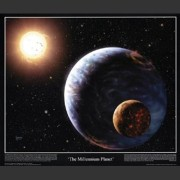 "Poster ""The Millennium Planet"""