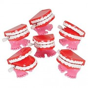 "(12) Mini 1.75"" Wind Up Chatter Teeth Toys"