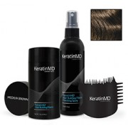 KeratinMD HAIR BUILDING FIBERS (Medium Brown) VALUE PACK