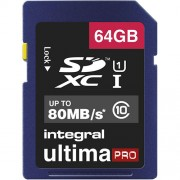 Card Memorie Ultima Pro CL10 SDXC 80MBS 64GB Integral