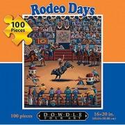 Jigsaw Puzzle - Rodeo Days 100 Pc By Dowdle Folk Art