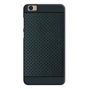 Johra Dotted Soft Silicone Back Cover Case For Vivo V5,Black