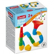 Quercetti Saxoflute - Build Your Own Musical Instrument - 16 Piece STEM Toy for Ages 2 and Up (Made in Italy)