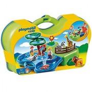 PLAYMOBIL Take Along Zoo & Aquarium Building Kit