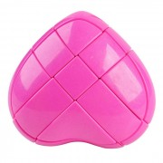 Heart Shape Screw Tuning Spring Magic Cube - Pink Purple (Skill Level 3)