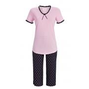 Ringella Dames pyjama roze met stipjes van Ringella