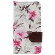 Capa tipo Carteira Floral para LG K4 - Branco