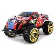 Big Wheel King Electric Rc Truck Big 1:10 Scale Monster Rfs Off Road Ready To Run Rtr W/ Working Suspension And Spring Shock Absorbers (Colors May Vary)