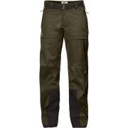 FjallRaven Keb Eco-Shell Trousers W - Dark Olive - Regenhosen XL