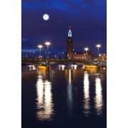 Stockholm City Hall at Night in Sweden Journal: 150 Page Lined Notebook/Diary