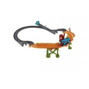 SET DE SINE CU LOCOMOTIVA BREAKAWAY BRIDGE - MATTEL (CDB59)