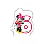 Lumanare party cifra 6 Minnie