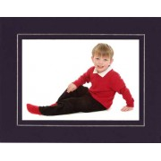 6x8 / 8x6 Purple and Silver Strut Photo Picture Mount