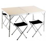 Piknik szett 120 x 80 cm összecsukható asztallal, 4 ülőkével GAF 004