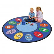 Expressions Learning Rug - Round