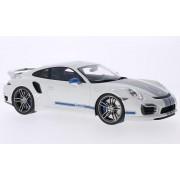 Porsche 911 (991) Turbo S Techart, blanco/Decorado, Modelo de Auto, modello completo, GT espiritu 1:18