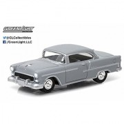 New 1:64 MOTOR WORLD SERIES 14 - GREY 1955 CHEVY BEL AIR Diecast Model Car By Greenlight
