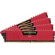 Memorii Corsair DDR4 Vengeance LPX Red Series 4x4GB, 2666 MHz, 16 CL