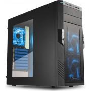 Sharkoon T28 Desktop Zwart, Blauw