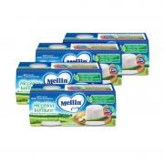 Mellin Formaggino - Kit risparmio 4x Formaggino Ricottina con Verdure - KIT_4X_Confezione da 2 vasetti da 80 g