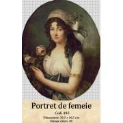 Portret de femeie (kit goblen)