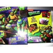 Teenage Mutant Ninja Turtles Heroes In A Half-Shell GIFT PACK ( Giant 3 Foot Floor Puzzle & Memory Match Game)