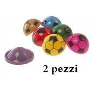 Coppia di Poppers salterini con fantasia pallone di calcio