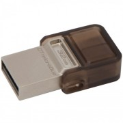 Memorie Flash Drive DataTraveler microDuo 32GB, USB 2.0 & microUSB USB OTG, Kingston DTDUO/32GB
