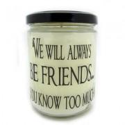 StarHollowCandleCo We Will Always Be Friends You Know Too Much Vanilla Jar FRIENDSQJVA