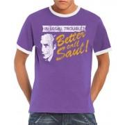 Touchlines Camiseta de running para hombre, tamaño L, color liliac / blanco